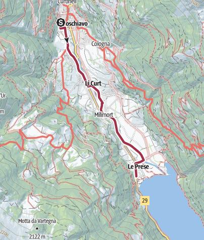 Cartina / Poschiavo - Le Prese, sentiero basso