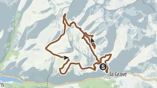 Carte / Le Tour du Plateau d'Emparis   (Massif des Arves)