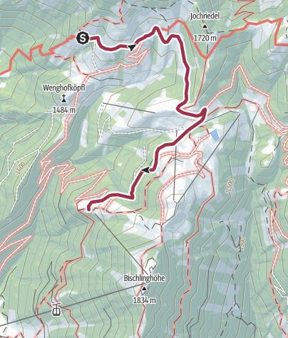 Cartina / Übergang von der Dr.-Heinrich-Hackel-Hütte zur Freilassinger Hütte