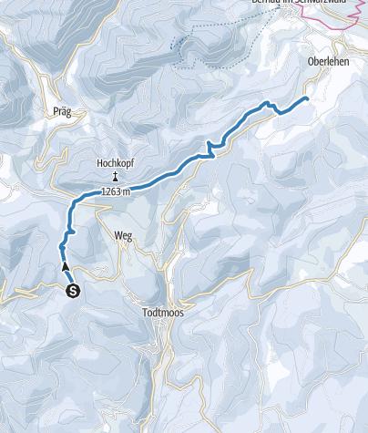 Karte / Verbindungsloipe Todtmoos/St. Antoni - Bernau/Loipenhaus