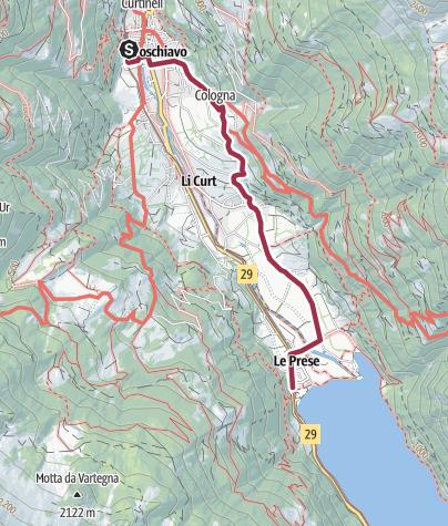 Cartina / Poschiavo - Le Prese, sentiero alto