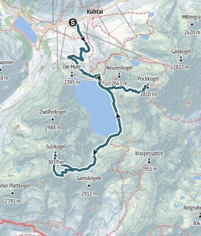 Karte / Sulzkogel, Gamskogel und Pockkogel, Sellrain