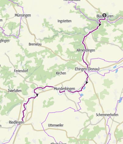 Karte / Blaubeuren – Riedlingen (Deutsche Fachwerkstraße)