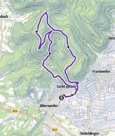 Karte / T4G  Albersweiler 11 km Strecke
