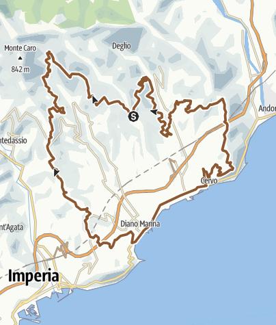 Karte / Diano Terre Blu (Diano Marina)