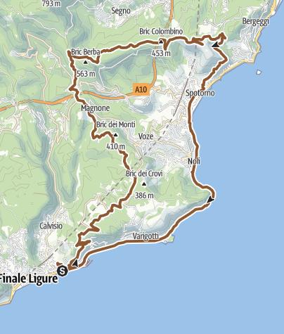 Karte / Rocche Bianche e Monte Mao (Finale Ligure)