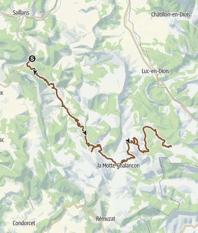 Carte / Chemins du Soleil - Variante Saillans Valdrome