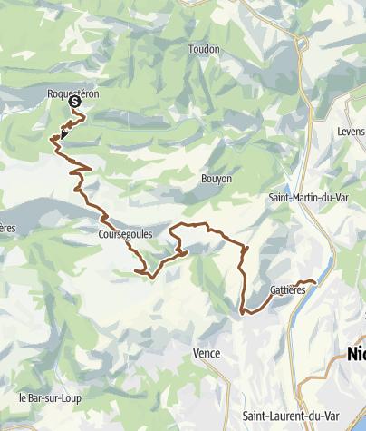 Carte / Chemins du Soleil - Variante Roquesteron - Plaine-du-Var