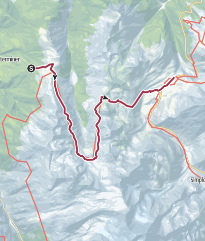 Map / From Visperterminen to the Simplon Pass via the Nanztal valley