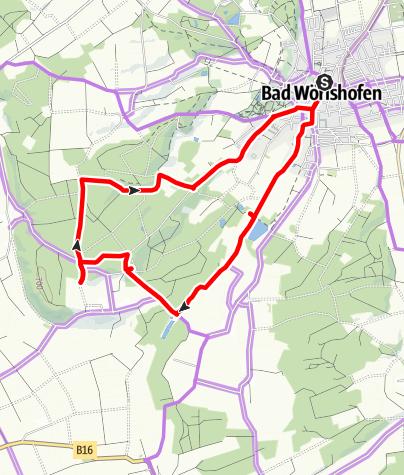 Karte / Kinderfahrradtour