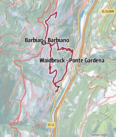 Cartina / Escursione Törggelen Barbiano