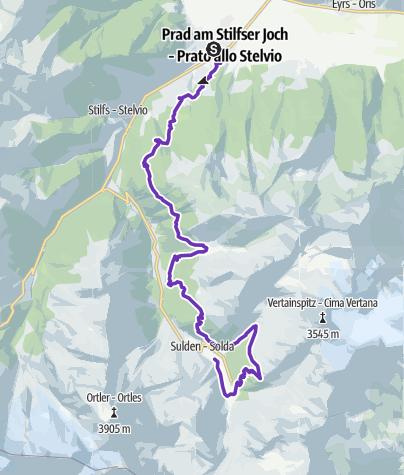 Karte / TRANSALPINE-RUN 2019 8. Etappe_Alternative