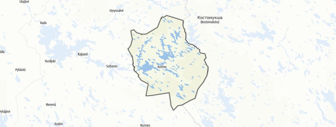 Térkép / Túrázás,  Kuhmo területén