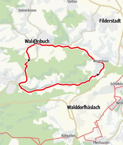 Karte / Wanderung durchs malerische Schaichtal