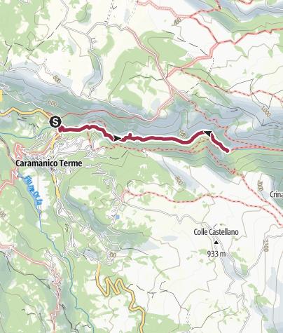 Map / Valle dell'Orfento - through Majella's gorge