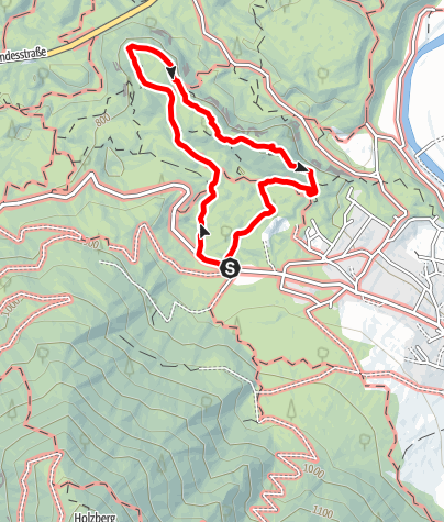 Karte / Rundweg Sautner Forchet - roter Weg -  Sautens