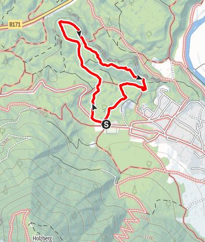 Karte / Rundweg Sautner Forchet - roter Weg