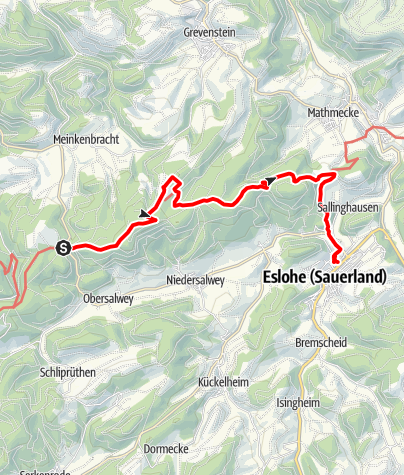 "Karte / Wandertaxi ""Höhenflug"": Vom Birkenbrauck nach Eslohe"