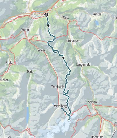 Karte / Toppensnellen op de Geigenkamm