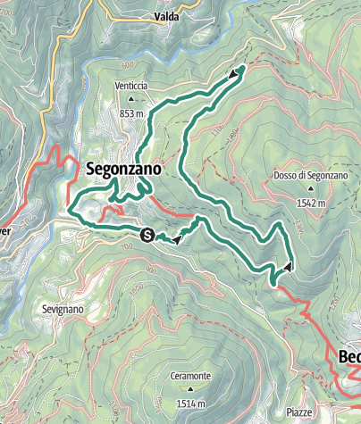Map / Ring route of Segonzano
