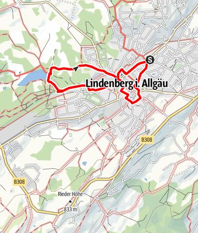Karte / Trilogie-Rundgang Lindenberg