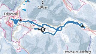 Karte / Tiefbrunnau Loipe