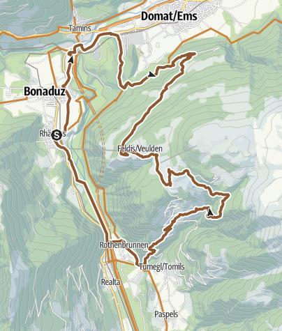 Map / Feldis round tour