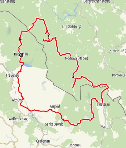 Karte / Rachel- und Lusenumrundung von Buchenau