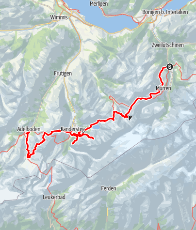 Kaart / Jungfrautrek 50-plus