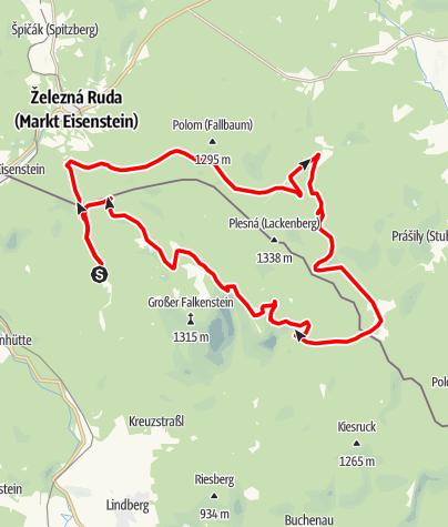 Karte / Lackensee von Zwieslerwaldhaus