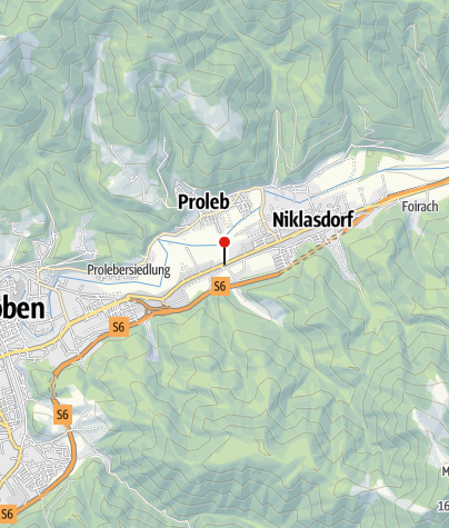 Karte / Bewegungsarena Leoben/Niklasdorf - Einstieg Brückwirt