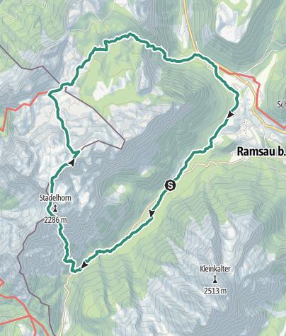 Karte / Hüttentour Traunsteiner Hütte über Schaflsteig