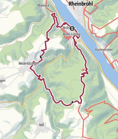 Karte / Katharinaweg Brohl-Lützing
