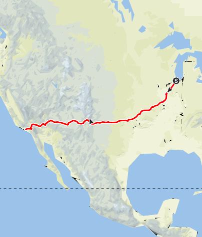 Karte / Route 66