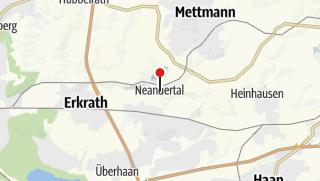Karte / Dem Neandertaler auf der Spur