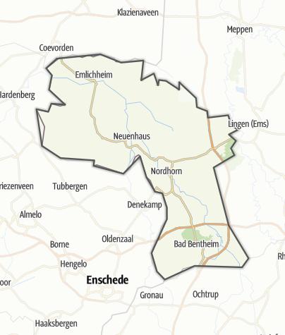 Karte / Grafschaft Bentheim