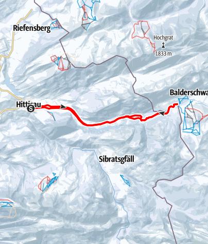 Karte / Hittisau   Grenzlandloipe