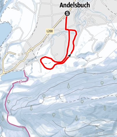 Karte / Andelsbuch | Langlaufloipe Wälderschanze