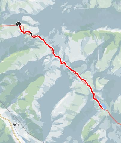 Karte / 10 Rupertiweg , E20 Reißeck-Höhenweg: Arthur-von-Schmid-Haus - Reißeckhütte