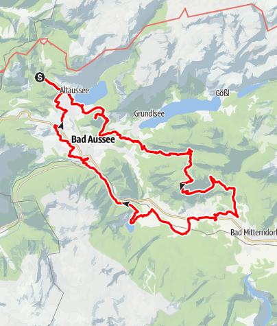 Karte / 24 Stunden Wanderung im Ausseerland, am 16. und 17. Juni 2018   (www.ausseerland24.at)