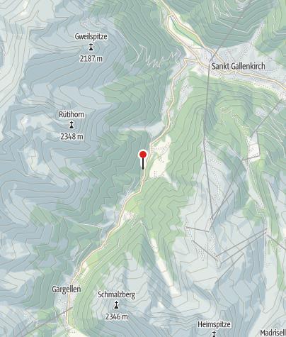 Karte / Säumerstation Zuggawald und Zuggawald-Maisäß