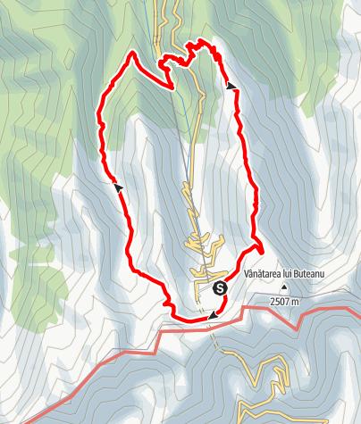 Karte / Fagaras Etappe 3: Rundweg Cabana Balea Lac - Cabana Balea Cascada
