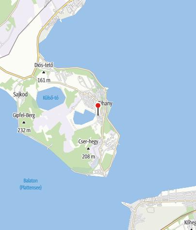 Térkép / Levendula Ház Látogatóközpont (Tihany)
