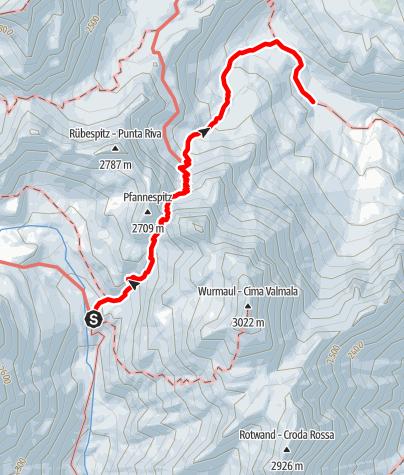 Karte / Von der Brixnerhütte zur Weitenbergalm
