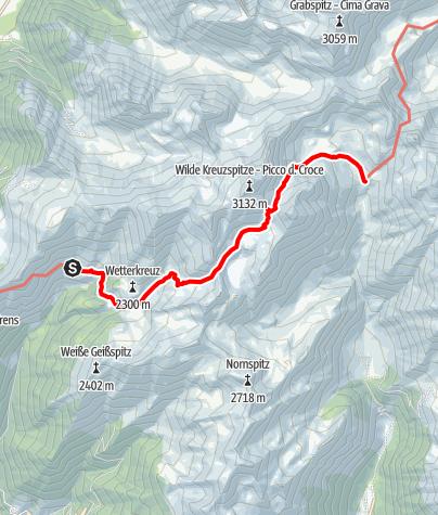 Karte / Von der Simile Mahd zur Brixnerhütte