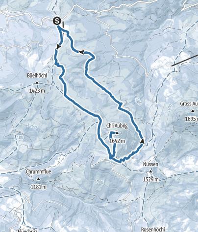 Map / Von Sattelegg auf den Chli Aubrig