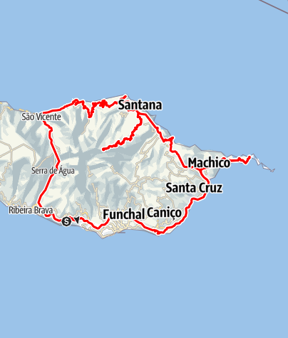Map / Madeira: Eastern route