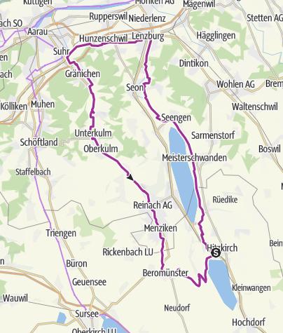 Map / Seetal: Castles Tour