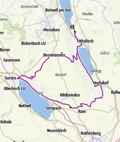 Karte / Drei Seen Tour