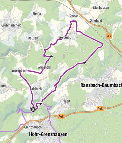 Karte / Bäche-Tour im Kannenbäckerland (XII)